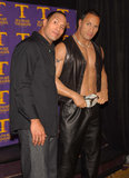 In NYC, Dwayne Johnson unveiled his wax portrait in April 2002.