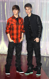 Justin Bieber unveiled his twin in March 2011 in London.