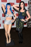 In January, Katy Perry mimicked her wax work's pose in Las Vegas.
