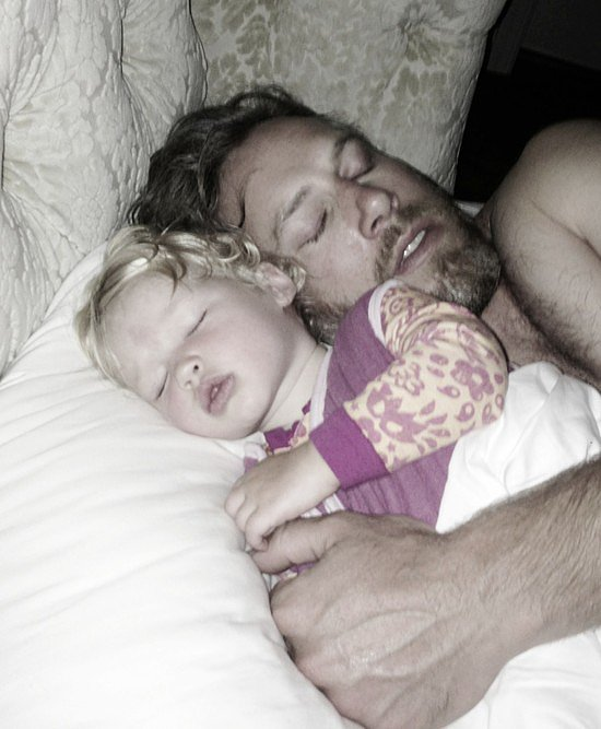 "Jessica Simpson snapped a picture of her ""loves"" while they napped.  Source: Twitter user jessicasimpson"