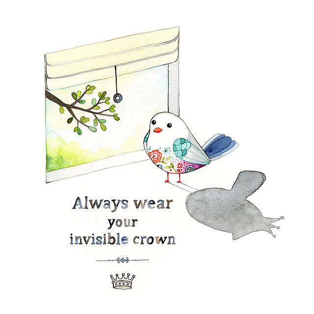 Always wear your invisible crown ($25)