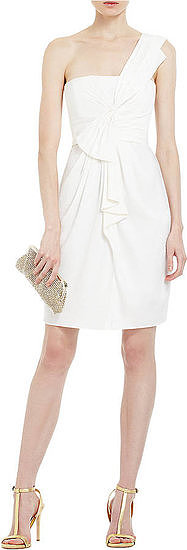 This BCBG Max Azria one-shoulder cocktail dress ($248) has too many stunning details to overlook. Plus the price tag is great too.
