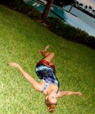 Beyoncé lounged in the grass. Source: Beyoncé Knowles