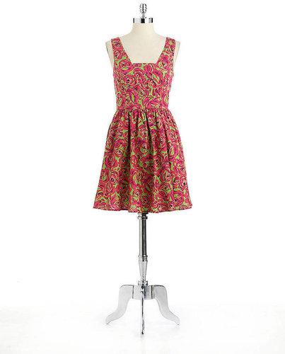 BETSEY JOHNSON Rose Printed Dress