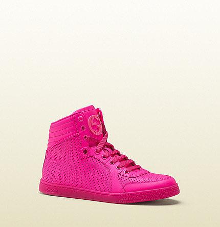 Coda Neon Pink Leather Sneaker