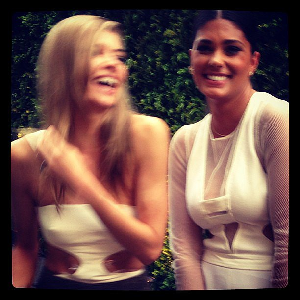 Jess Hart's date for the CFDA Awards? Designer Rachel Roy. Looks like they had fun! Source: Instagram user 1jessicahart