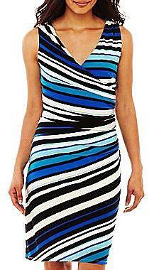 American Living Striped Side-Drape Dress