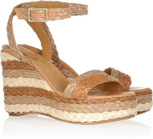 Chloé Raffia wedge sandals