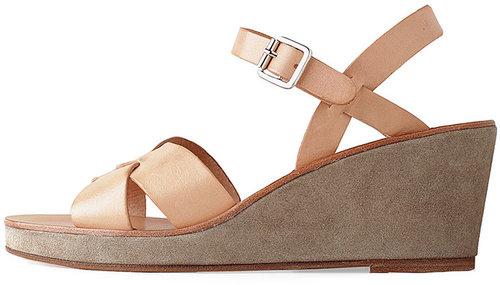 A.P.C. / Cross Strap Wedge Sandal