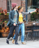 Sienna Miller and Tom Sturridge checked out the neighborhood.