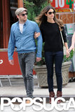 Lily Aldridge held onto Caleb Followill in NYC.