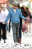Caleb Followill led the way during his afternoon stroll with Lily Aldridge.