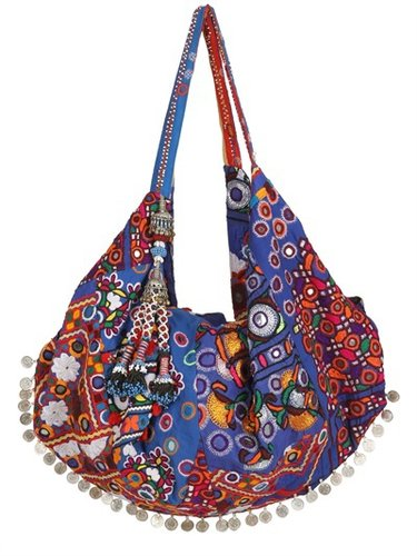 Moon Bag Patchwork Canvas Tote
