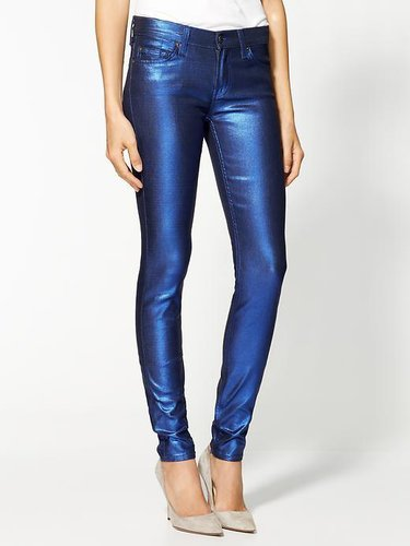 7 For All Mankind Dream Liquid Metallics Skinny Jeans