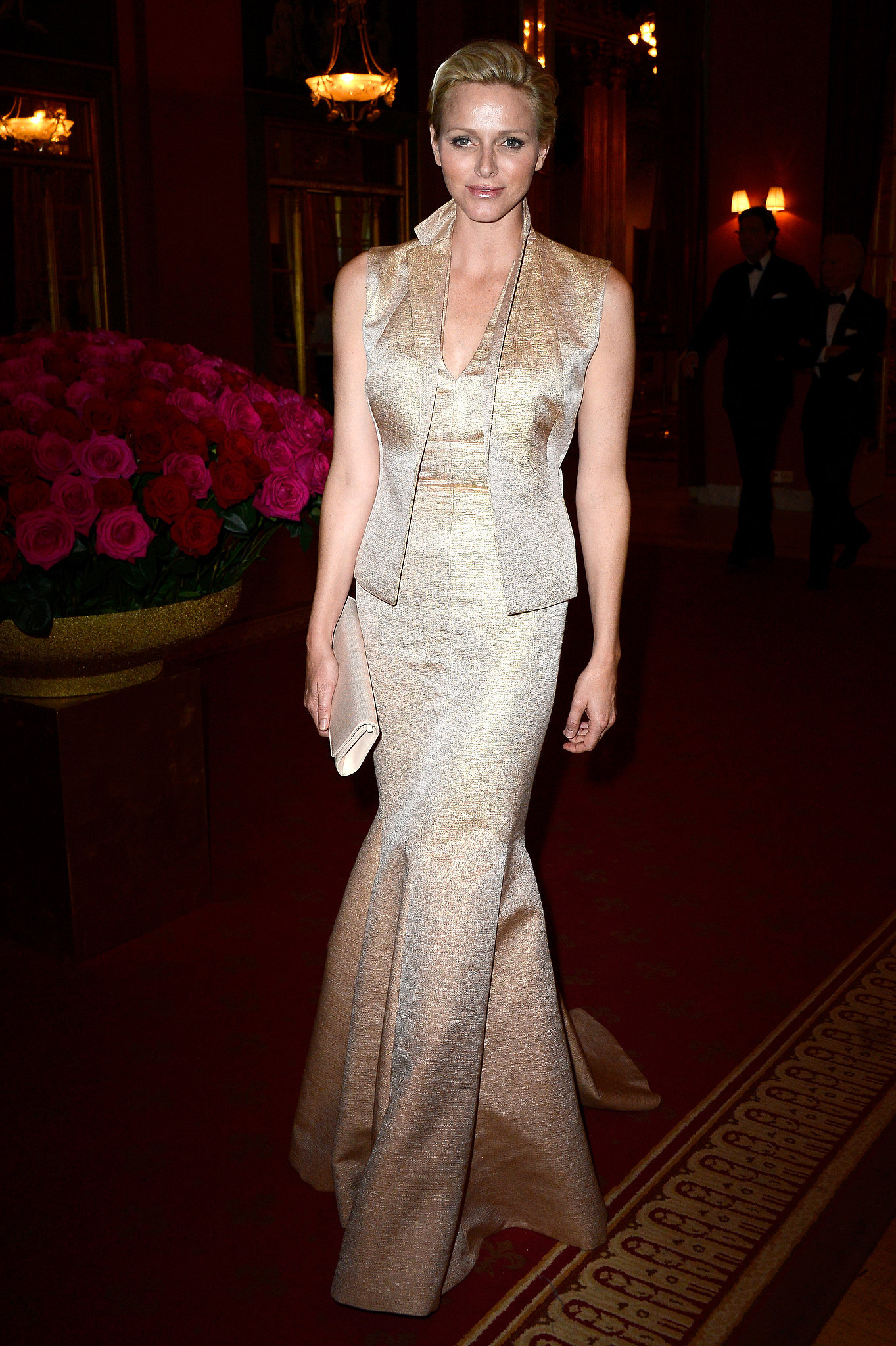 Princess Charlene of Monaco at a private dinner in honor of Princes