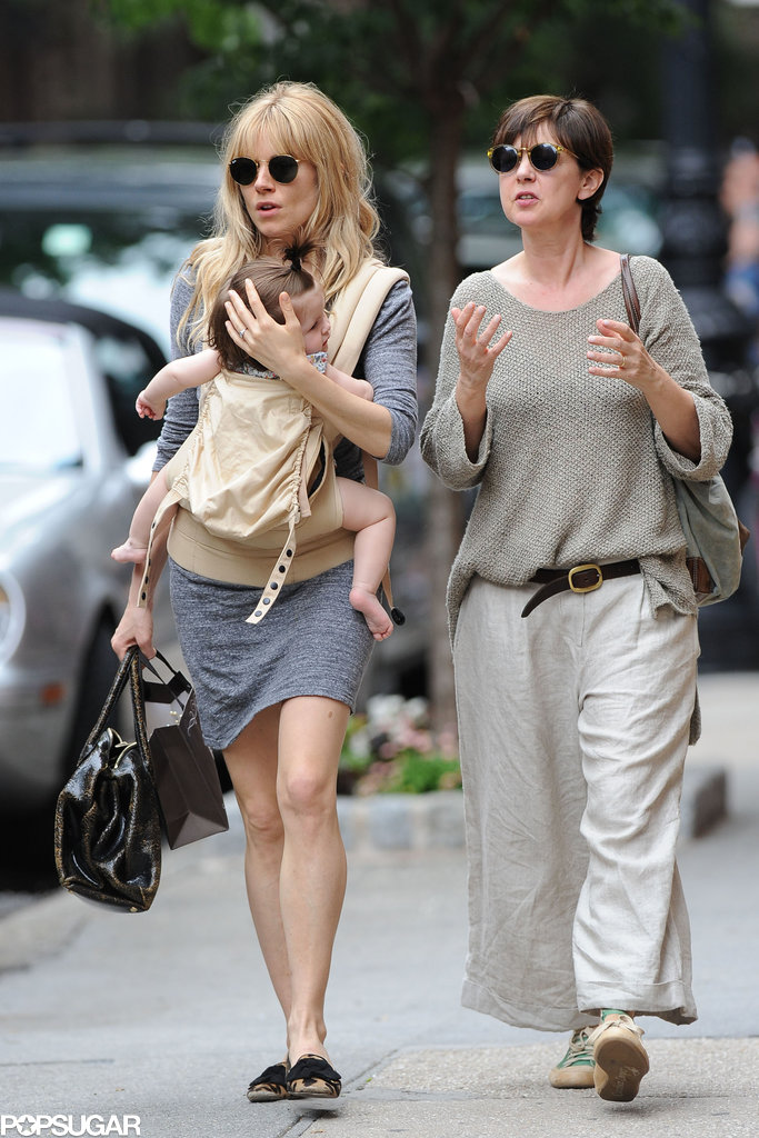 Sienna Miller went shopping with Tom Sturridge's mom.