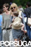 Sienna Miller walked with baby Marlowe in NYC.