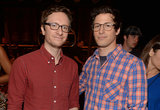 Akiva Schaffer and Andy Samberg posed together.