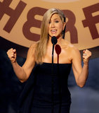 Jennifer Aniston spoke onstage at the Guys Choice Awards.