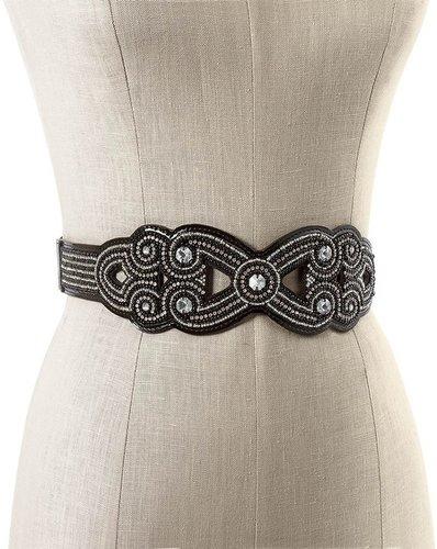 Beaded Crystal Stretch Belt