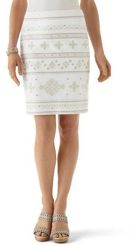 Over-The-Top Embroidered Pencil Skirt