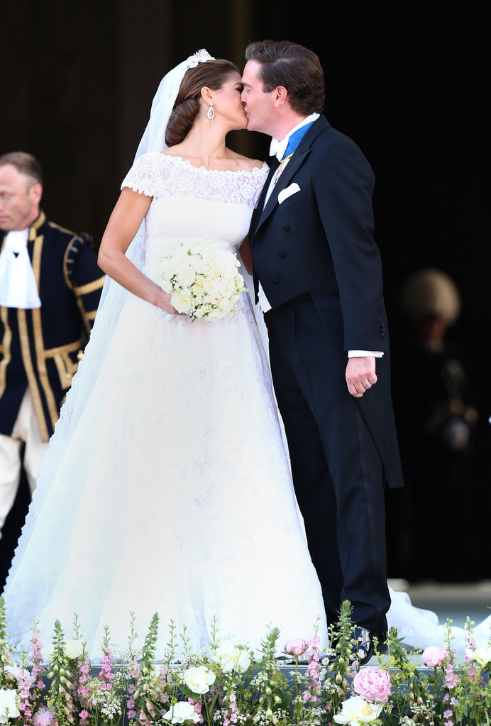Princess Madeleine of Sweden kissed her new husband Christopher O'Neill.