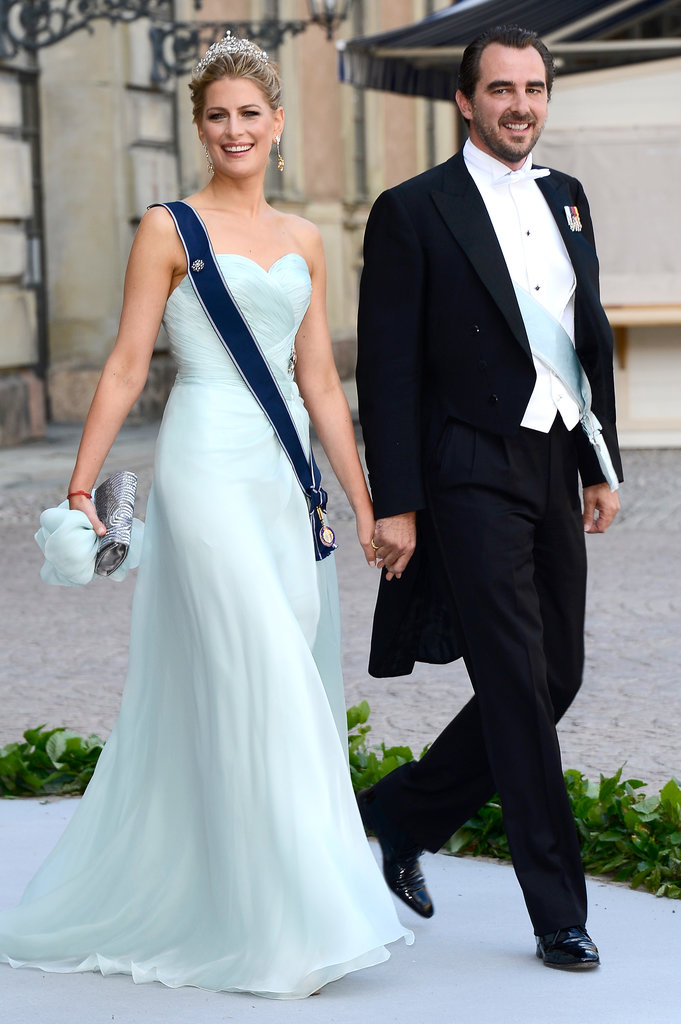 Prince Nikolaos and Princess Tatiana of Greece were guests at the wedding of Princess Madeleine of Sweden and Christopher O'Neill.