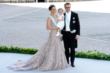 Crown Princess Victoria of Sweden and her husband Prince Daniel of Sweden brought their daughter Princess Estelle to the wedding of Princess Madeleine of Sweden and Christopher O'Neill.