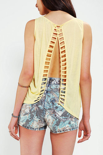 Lucca Couture Ladder Back Tank Top