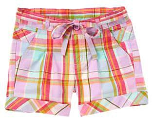 Belted Plaid Short