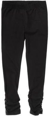Button Ruched Legging