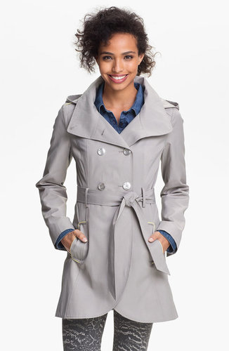 GUESS Hooded Double Breasted Trench Coat (Online Only)