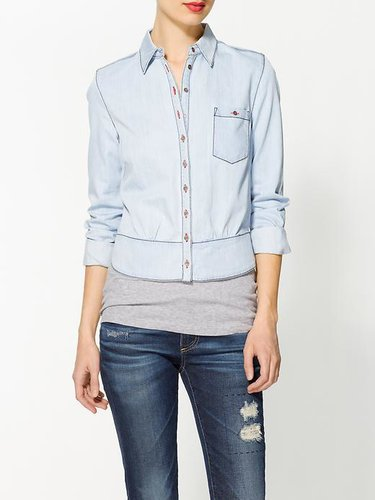 Rhyme Los Angeles Chloe Chambray Blouse