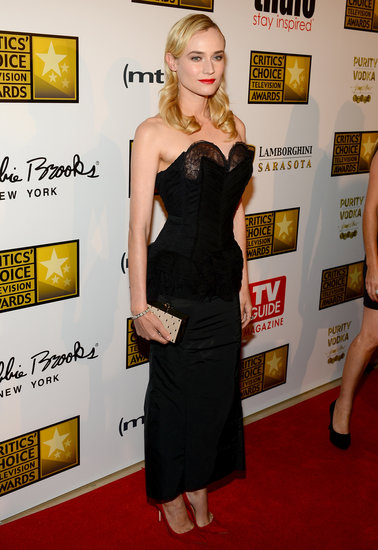 Diane Kruger wore a black number.