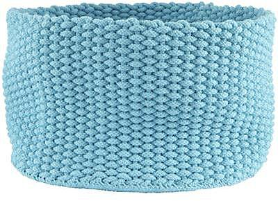 Large Aqua Kneatly Knit Rope Bin