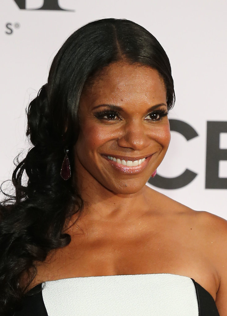 Audra McDonald opted for beautiful waves, glowing skin, and a flick of eyeliner.