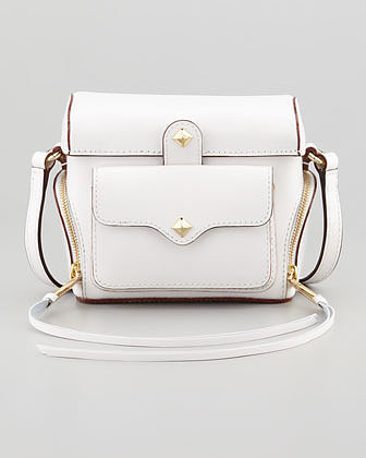 Rebecca Minkoff Craig Leather Camera Case, White
