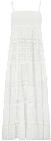 White textured maxi dress