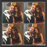 Nina Dobrev welcomed James D'Arcy to the set. Source: Nina Dobrev on WhoSay