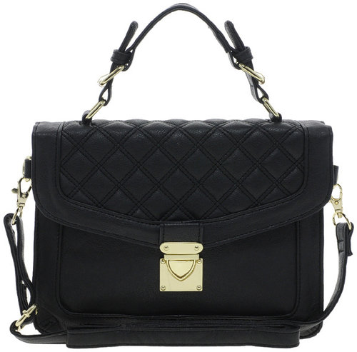 ASOS Top Handle Bag With Quilted Flap