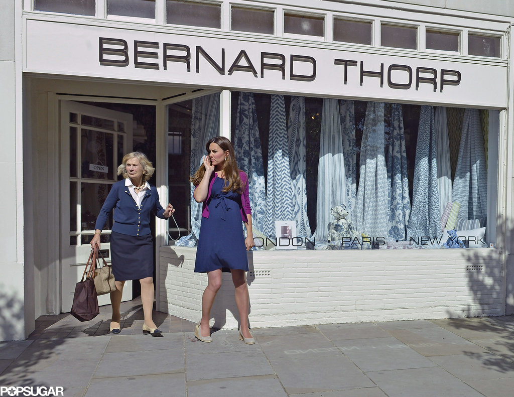 Kate Middleton popped into Bernard Thorp, an interior fabirc store. Pictures: SIMPSON/BUSHELL