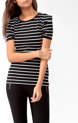 FOREVER 21 Short Sleeve Striped Top