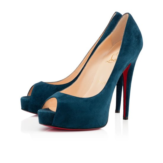 As versatile as it is when it's done in black, the teal suede Vendome peep-toe ($845) is a new neutral.