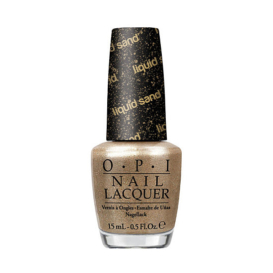 Channel your inner-Bond girl with OPI Liquid Sand in Honey Ryder ($9). It dries with a matte textured finish, but you can add a top coat for an extra dose of shine.