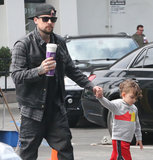 Joel Madden went on a coffee run with his son, Sparrow, in LA.