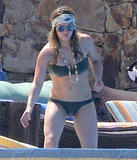 Hilary Duff looked cool rocking a bandanna to keep from melting in the heat.