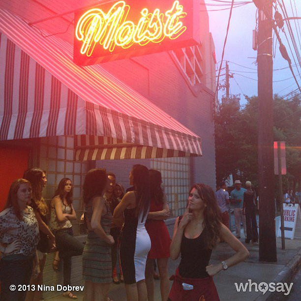 Nina Dobrev paused over a questionable shooting locale. Source: Nina Dobrev on WhoSay
