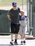 Ryan Phillippe put his arm around his son, Deacon, in April after watching him play a game in LA.