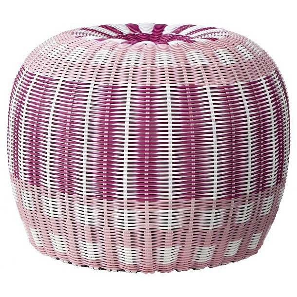 Provide extra seating for Summer guests with a pink-and-purple pouf ($30, originally $60).