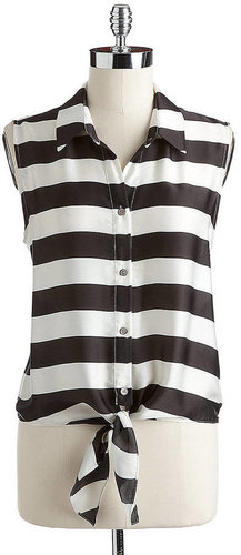 VINCE CAMUTO Sleeveless Striped Blouse